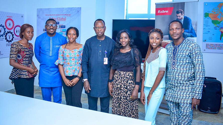 Image of Sabre CEO, Olowo and graduates of YGEI